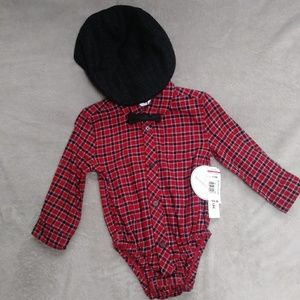 12-18mnths plaid onsie